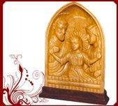 Buy cheap White Wood Jesus Mary Statues from wholesalers