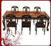 Buy cheap Rosewood Dining Table with Six Chairs-Khedda Design from wholesalers