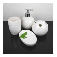 Wholesale Bathroom Accessory Lovely White Ceramic Bath Accessory Sets X2502 from china suppliers