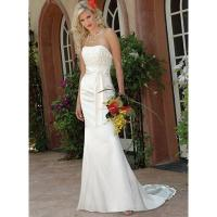 Strapless Mermaid Trumpet Lace-up Chiffon Bridemaid Dress Manufactures