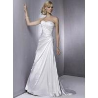 Column Sweetheart Lace-up Pleated Satin Wedding Dress Manufactures