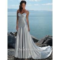Buy cheap Wedding Dresses Sheath Strapless Sweetheart Satin Beading Ruched Wedding Dress from wholesalers