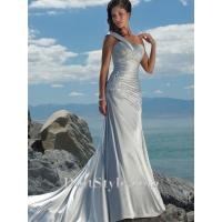 Buy cheap Wedding Dresses A-line One-shoulder Satin Lace Beading Wedding Dress from wholesalers