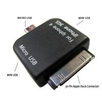 Buy cheap Mini Micro USB Dual Adapter to Micro USB for iPhone 4G 3GS 3G from wholesalers