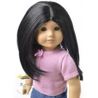 Buy cheap 18 American Girl Heat Resistant 12-13 Wig Black #A016 from wholesalers