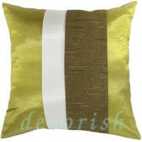 Buy cheap Silk Pillow Cover LIME & CREAM Silk Throw Pillow Cases with 2 Tone Middle Stripe Design from wholesalers