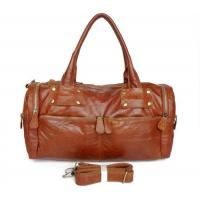Buy cheap 2587 Vintage Tan Leather Brown Travel Bag Handbag Purse Hobo from wholesalers