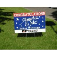 Buy cheap Yard sign with H-stake(corrugated plastic sheet) from wholesalers