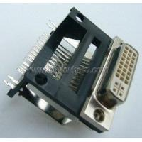 Buy cheap DVI24+5 Female right angle elevated type plug connector pin OEM adapter connector from wholesalers