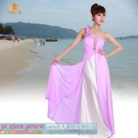 Buy cheap 4148# pink single shoulder prom dress from wholesalers