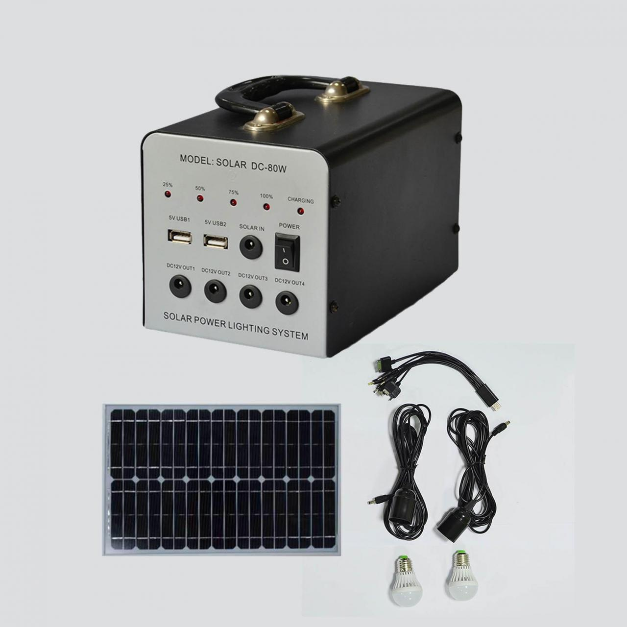 30W small dc system manufactured emergency hang portable home use lighting system