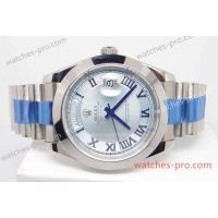 Buy cheap Rolex Watches Fake Rolex Day Date II Watch 41mm Ice Blue Roman Face from wholesalers