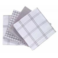"""Wholesale T-Fal Textiles 100% Cotton Waffle Weave Kitchen Dish Cloths, 12"""" x13"""", Set of 4 Designs, Gray from china suppliers"""