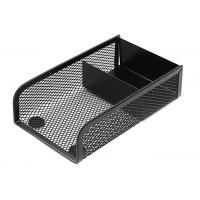 Wholesale Black Metal Mesh Desktop Post-it Note Holder Stand Memo Pad Organizer Tray from china suppliers