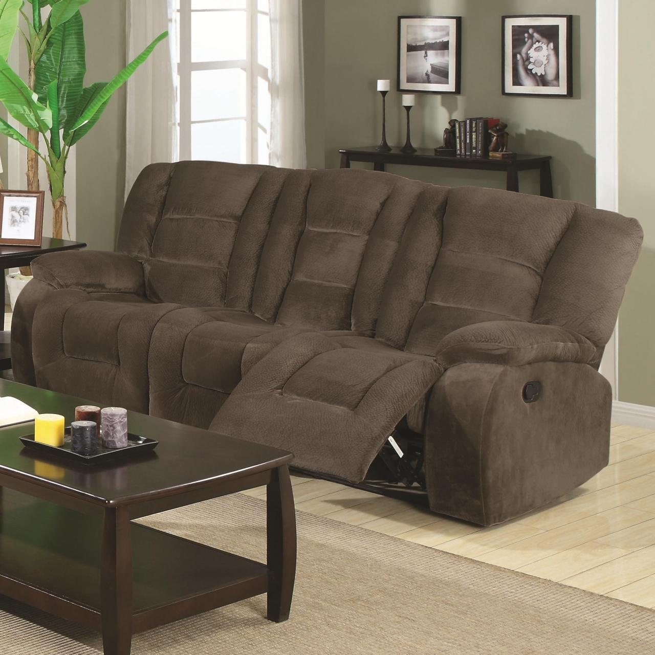 Buy cheap Brown Motion Reclining Sofa with Casual Style from wholesalers