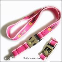 Wholesale Comfortable Serging Stitch Neoprene Lanyards with Custom Quick Buckle from china suppliers
