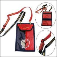 Buy cheap Double Ended Bulldog Clips Polyester Lanyards with Passport Pouch from wholesalers
