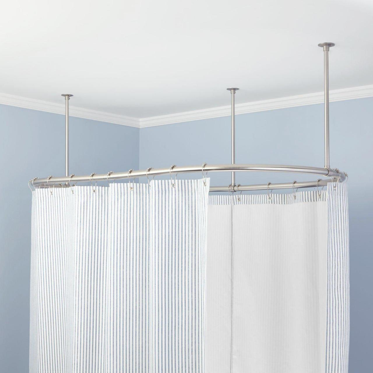 Buy cheap oval shower curtain rods from wholesalers