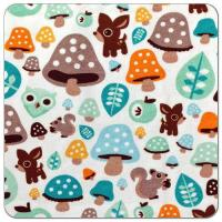 China Magical Mushrooms Cotton Spandex Knit Fabric on sale