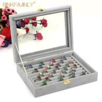 Buy cheap Ring Organizer Box - 8 Slot Classic Jewelry Display Holder velvet ring box from wholesalers