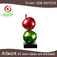Buy cheap Large Sculpture Resin Double Red Green Apples Statues for Home Ornaments from wholesalers