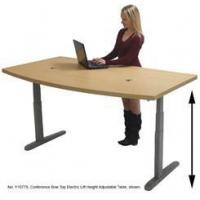 Buy cheap 71 x 41 Bow Front RaiseUp Electric Lift Height Adjustable Desk - See Other Sizes from wholesalers