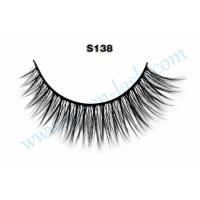 Buy cheap Mink Eye Lashes 100% Real Siberian Mink Strip Eyelashes Mink Lashes With Custom Packaging S138 from wholesalers