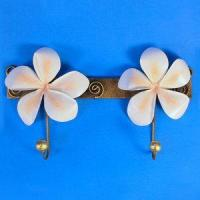 Wholesale Decor - Tropical Plumeria Decorative Double Metal Wall Hook Pink 96-2-750 from china suppliers