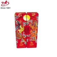 TD food package tin box with Chinese dragon and phoenix