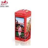 Phone Booth shaped tin money box