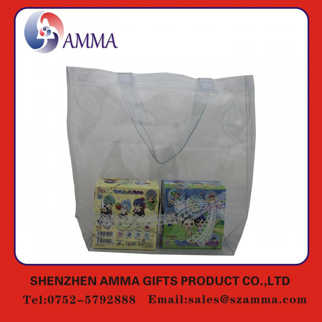 Wholesale Clear transparent customized pvc shopping bag from china suppliers