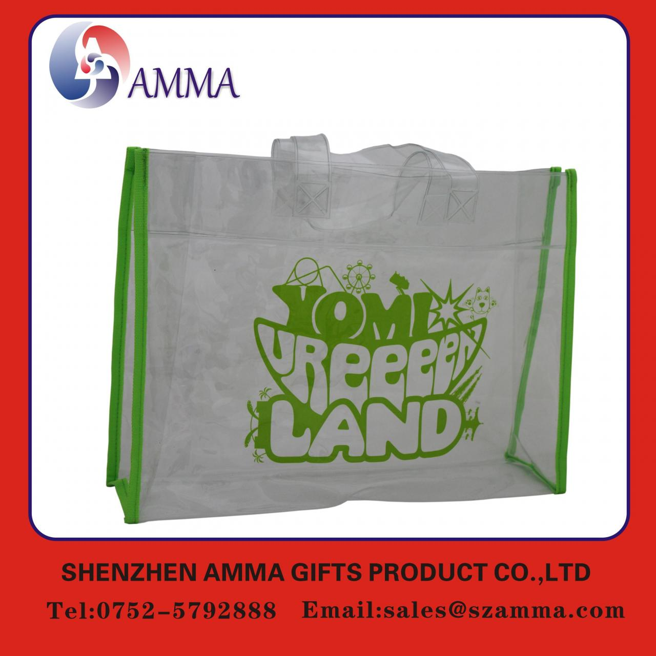 Wholesale Eco-friendly custom handle top PVC bag from china suppliers