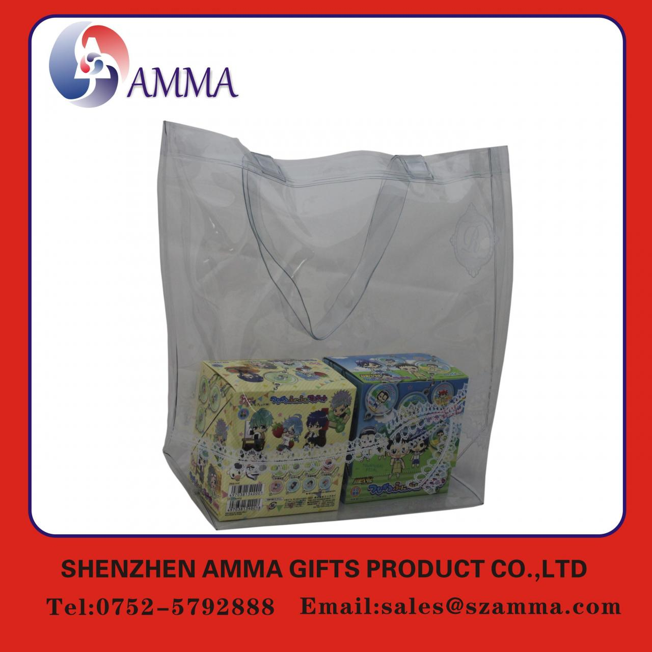 Wholesale Eco-friendly fasion design PVC handle bag from china suppliers