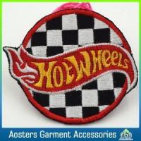 Buy cheap Custom Felt Round Embroidery Badge Sew on Patches for Coat from wholesalers