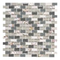 Buy cheap Glass Mix Pearl Shell Brick Interlocking Mosaic Tile Frosted Art for Wall from wholesalers