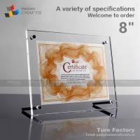 Buy cheap Clear Plexiglass 8.5 X 11 Certificate Frame from wholesalers
