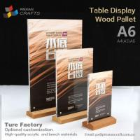 Wholesale A6 Wooden Menu Display Stands from china suppliers