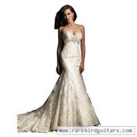 Wholesale Elley Women's V-Neck Lace Applique Strapless Mermaid Wedding Dress with Train from china suppliers