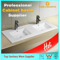 Buy cheap cabinet basin made in china bathroom double wash basin from wholesalers