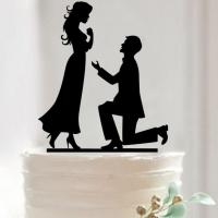 Buy cheap LMCT-002 Bride & Groom topper Wedding proposal acrylic cake topper from wholesalers