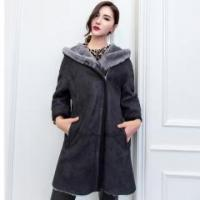 Buy cheap Womens Sheepskin Fur Overcoats with Winter Real Wool Long Style Hooded Coats Item Code: LX00712 from wholesalers