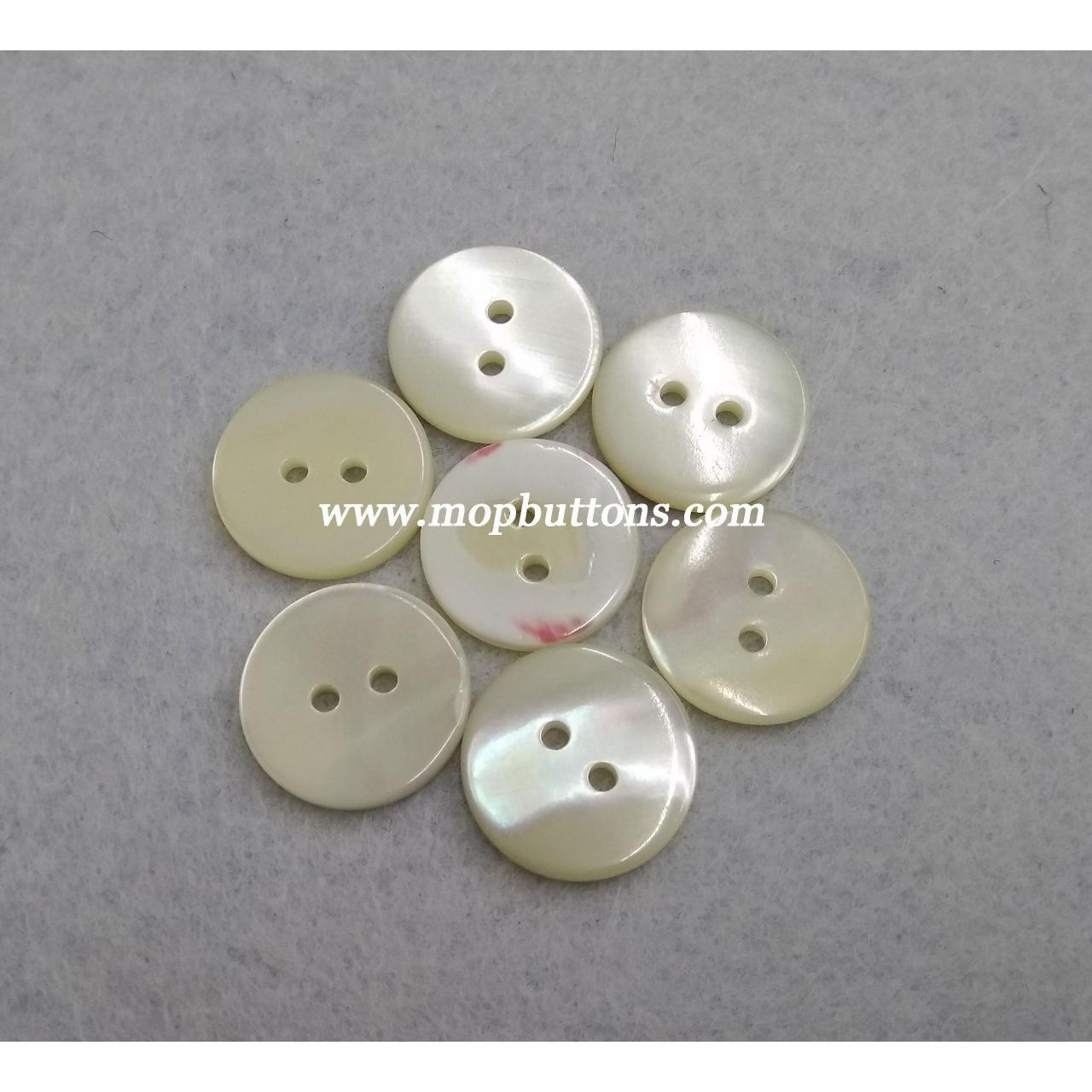 China 10mm 2Holes Custom Pearl Shell Shirt Button on sale