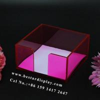 Buy cheap China supplier Plexiglass PMMA acrylic cube memo holder from wholesalers