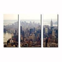 Buy cheap USA NEW YORK city view home decor wall art 3 panel canvas printing from wholesalers