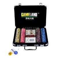 Buy cheap 200 Pcs Poker Chip Set-14g Monte Carlo Cash Debossed Clay Poker Chip In Black Alu Case from wholesalers