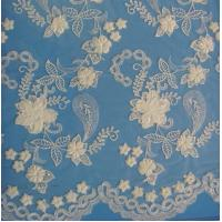 Buy cheap Bridal Lace Fabric Beaded Off White Bridal Lace Fabric.(W9032) from wholesalers