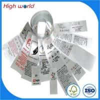Wholesale custom brand 100% polyester printed garment wash care instructions labels from china suppliers