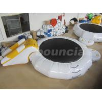 Buy cheap Inflatable Floating Water Trampoline Combo For Water Park Use from wholesalers