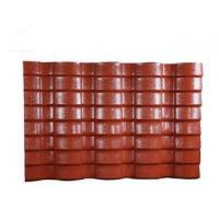 Buy cheap PVC Resin double roman roof tiles Corrugated Roofing Sheets 40mm Wave Height from wholesalers