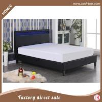 Buy cheap Faux Leather Bed Best Sale New Design LED Light Double Size Leather Bed For Bedroom Furniture from wholesalers